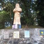Svatý Jakub zdraví poutníky při odchodu z Le Puy en Velay