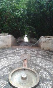 Vodní kaskády v zahradách paláce Alhambra ve španěslké Granadě.