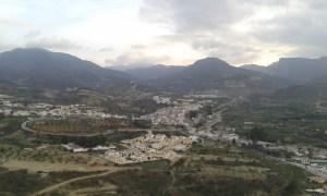 Výhled na ´jihošpanělskou vesnici Albánchez v regionu Almería