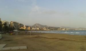 Španělská pláž v Malaze Playa de Malaga