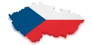 3D mapa České republiky.
