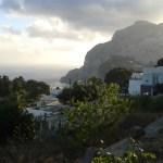 Pohled z vrcholu ostrova Capri nedaleko Neapole v Itálie