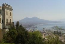 Itálie Neapol z pohledu v vrchu Castel Sant Elmo