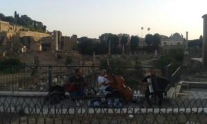 Forum romanum v italském Římě.