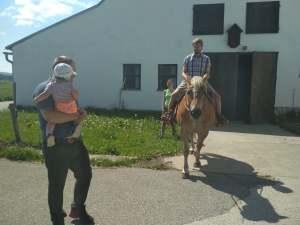 Vyjížďka na koních v Jihočeském kraji.