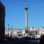 Náměstí Trafalgar Square v centru britské metropole Londýn,