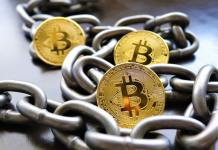 bitcoin, mince, řetěz, zlato, coin, token