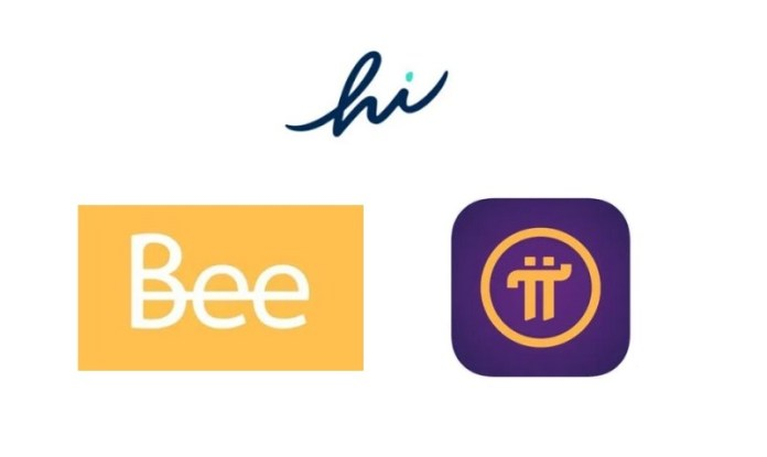 Hi Dollars, Pi Network, Bee Network, kryptoměna, kryptoměny, těžba, mobilní telefon, nejlepší aplikace, coin, token