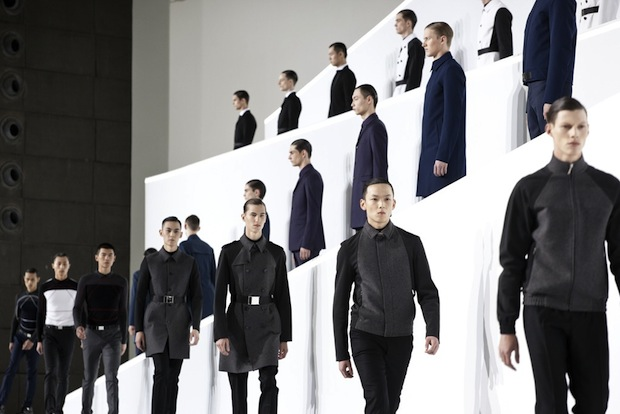 Dior Homme's recent inaugural China show. Dior has been making its push into China as the luxury market evolves. (Women's Wear Daily)