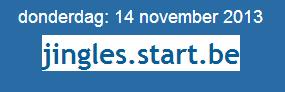 Startpagina Jingles Belgie