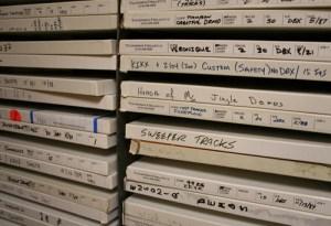 De master van het RTL Veronique pakket in het archief van Thompson Creative - foto Jingleweb