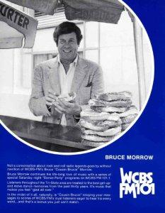 Advertentie WCBS-FM met Bruce Morrow