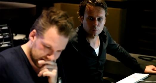 Martijn Schimmer (r) aan het werk - bron video SMP
