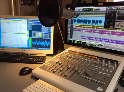 De studio van Soulshow Radio in wording