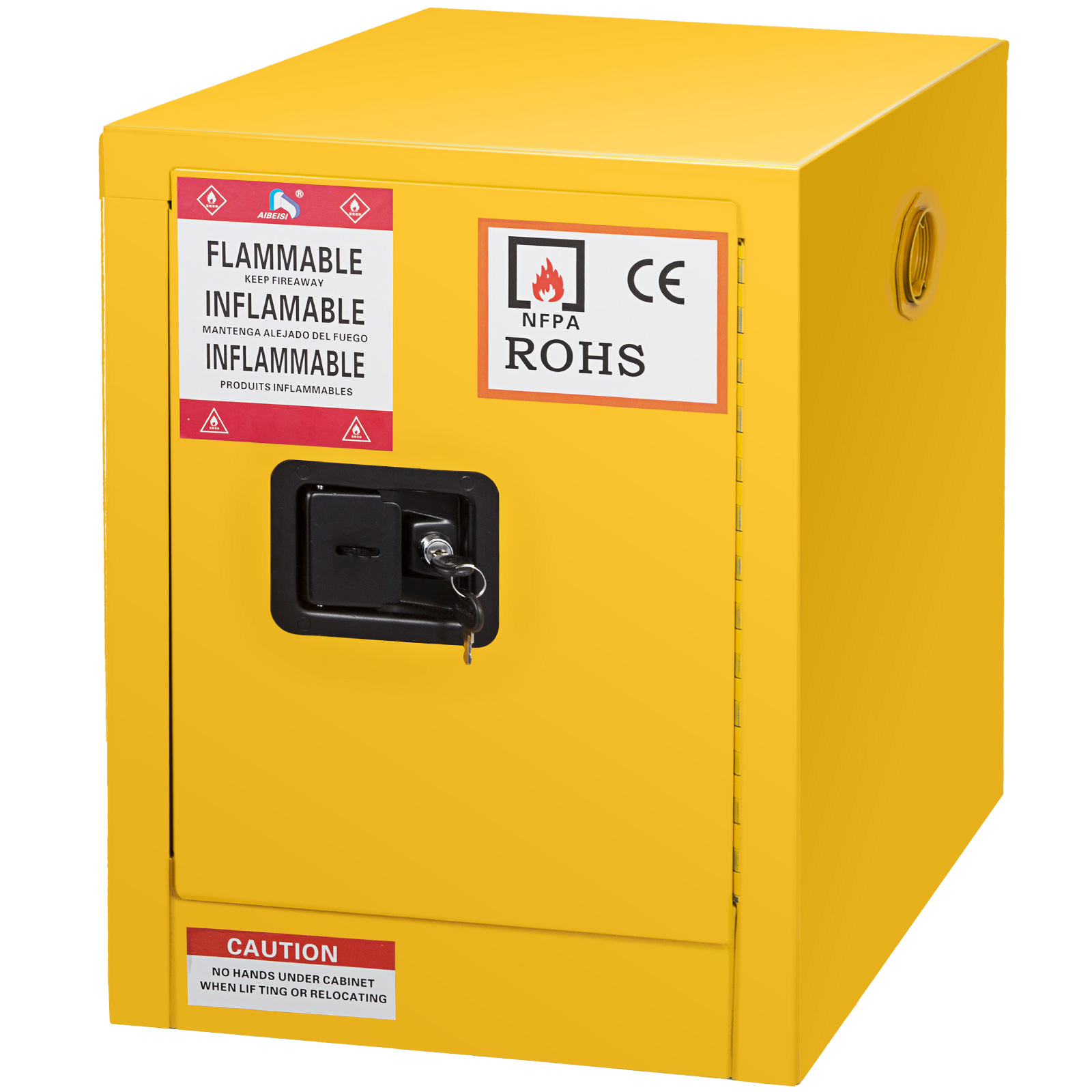 Details About 12 Gallon Yellow Safety Storage Cabinet Manual Close Welded Flammable Liquid