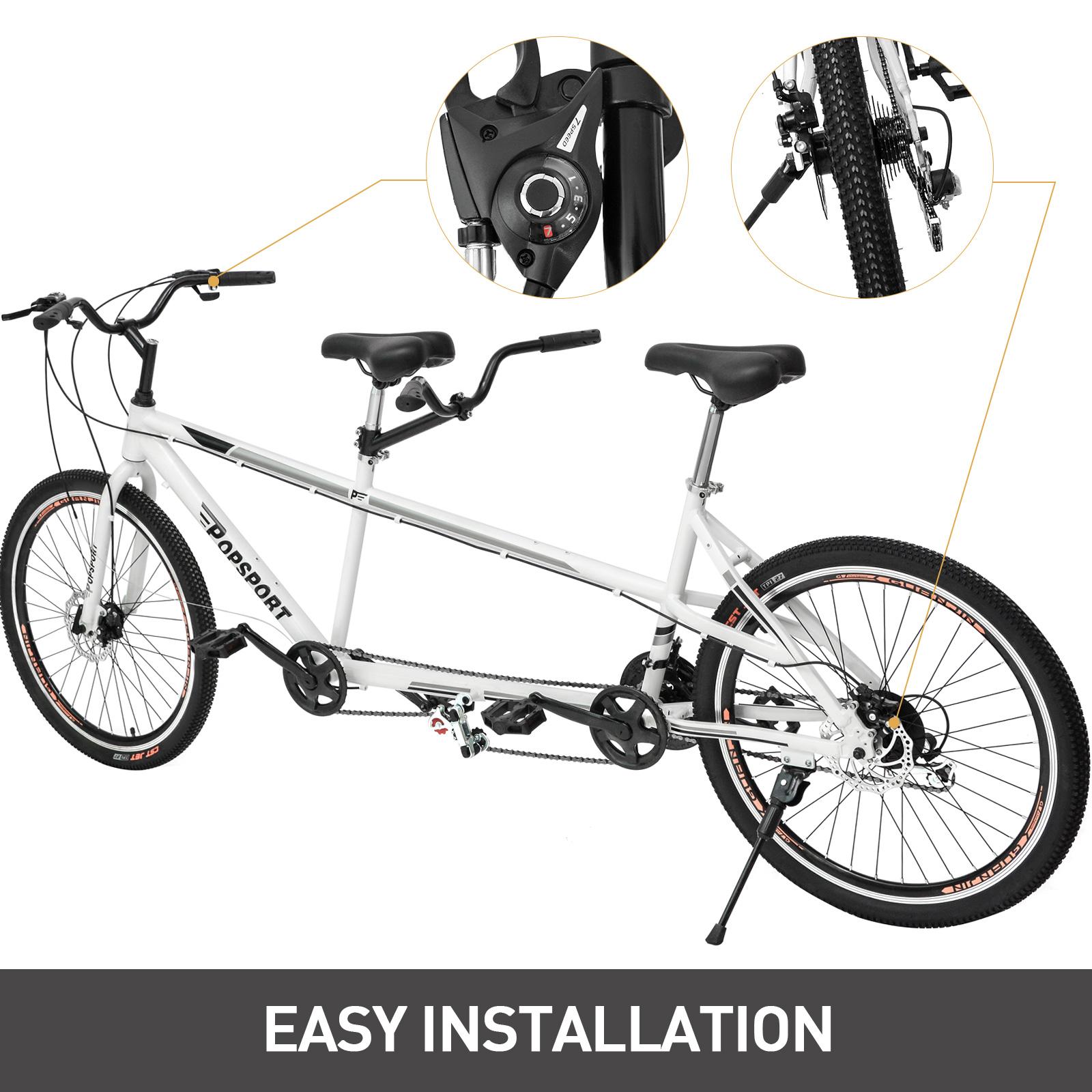 Tandem Bike 20 Bicycle 21 Speed Shimano Aluminum Gray