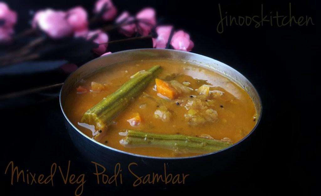 Mixed Veg Podi Sambar