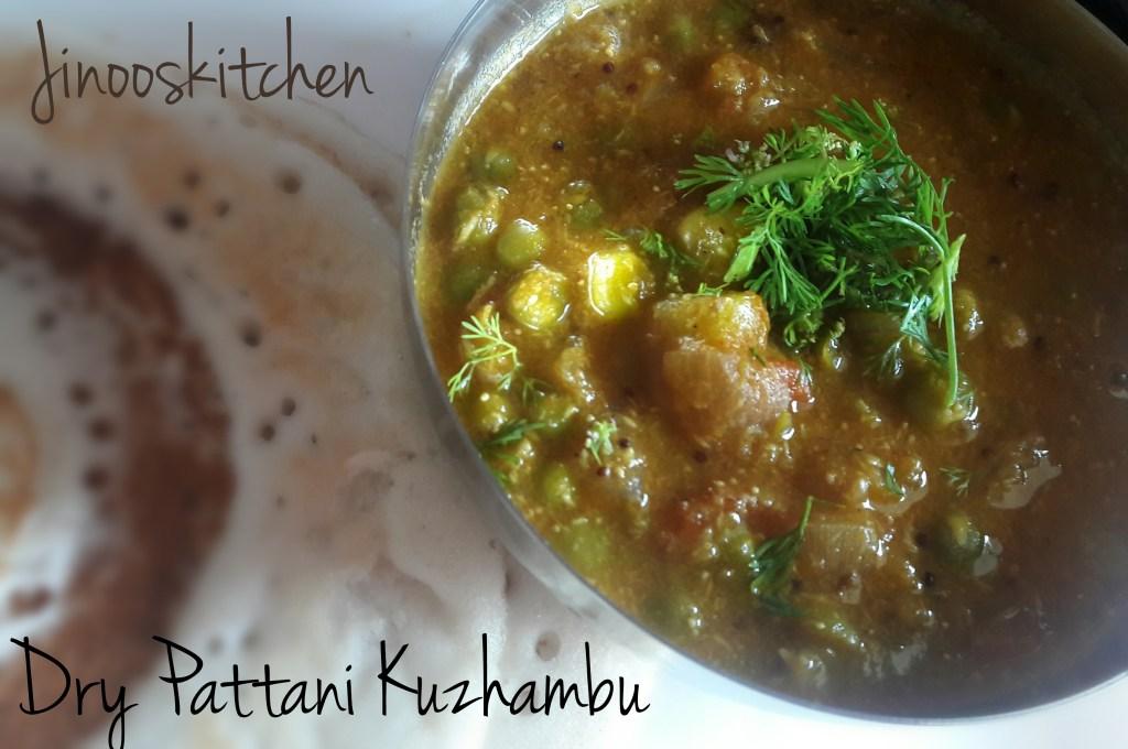 Dry Pattani Kuzhambu ~ Dry Peas Masala Curry