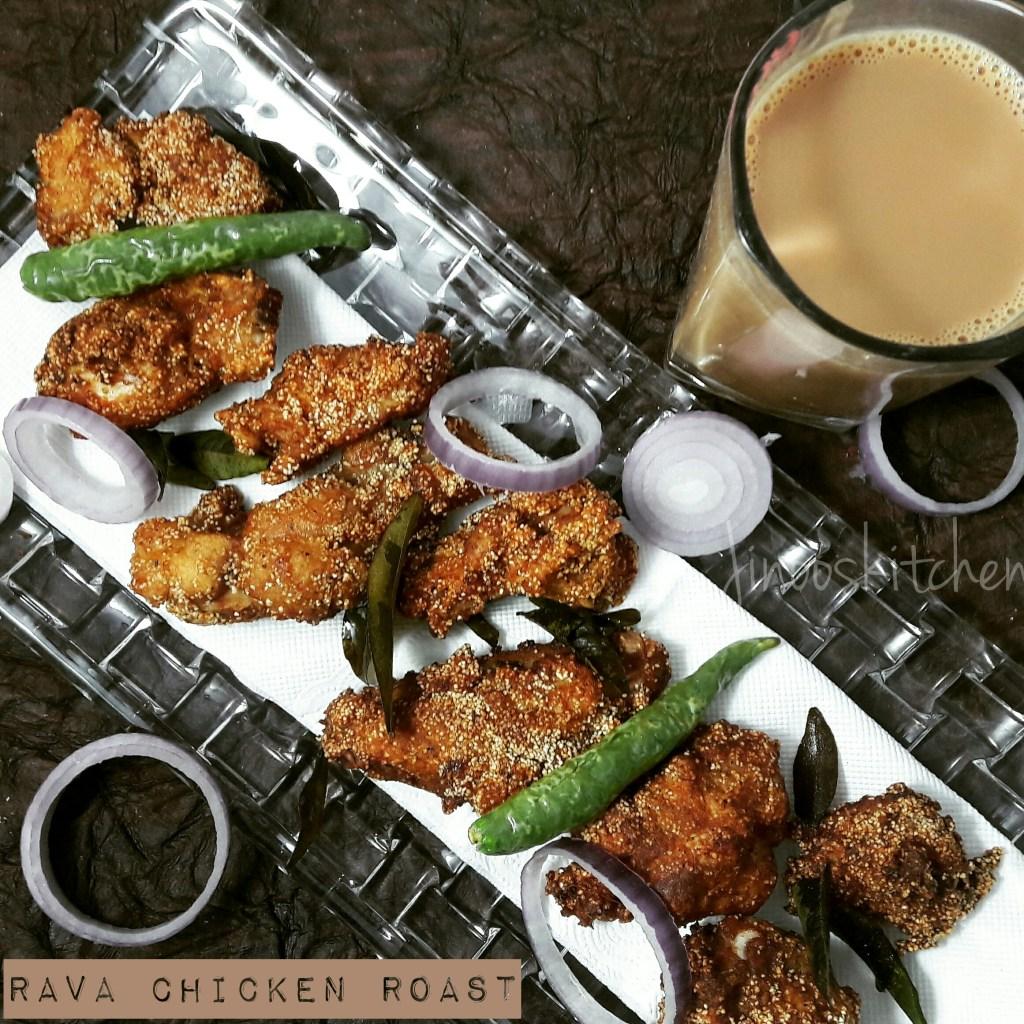 Easy & Crispy Rava Chicken fry