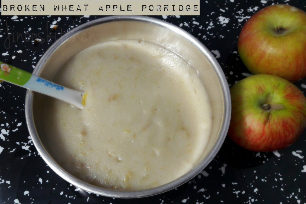 Baby Foodz – Broken Wheat Apple Porridge
