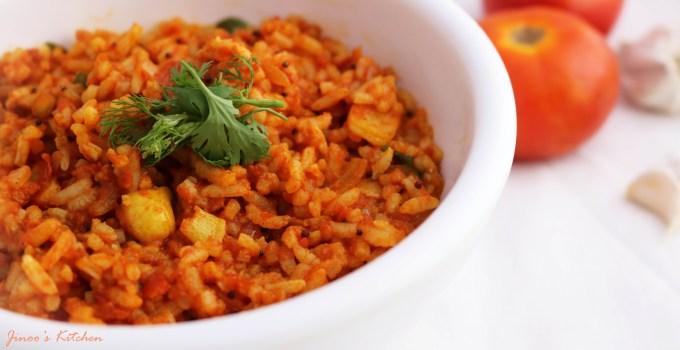 Tomato Rice ~ Thakkali Sadham