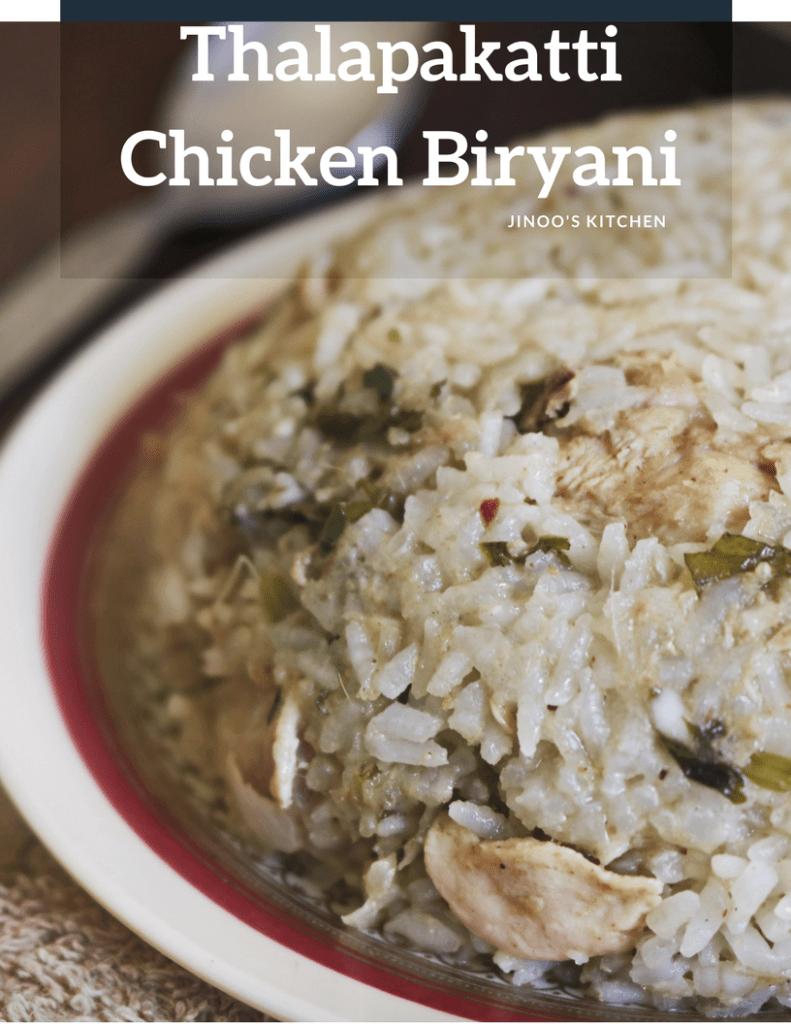 Thalapakatti style chicken Biryani