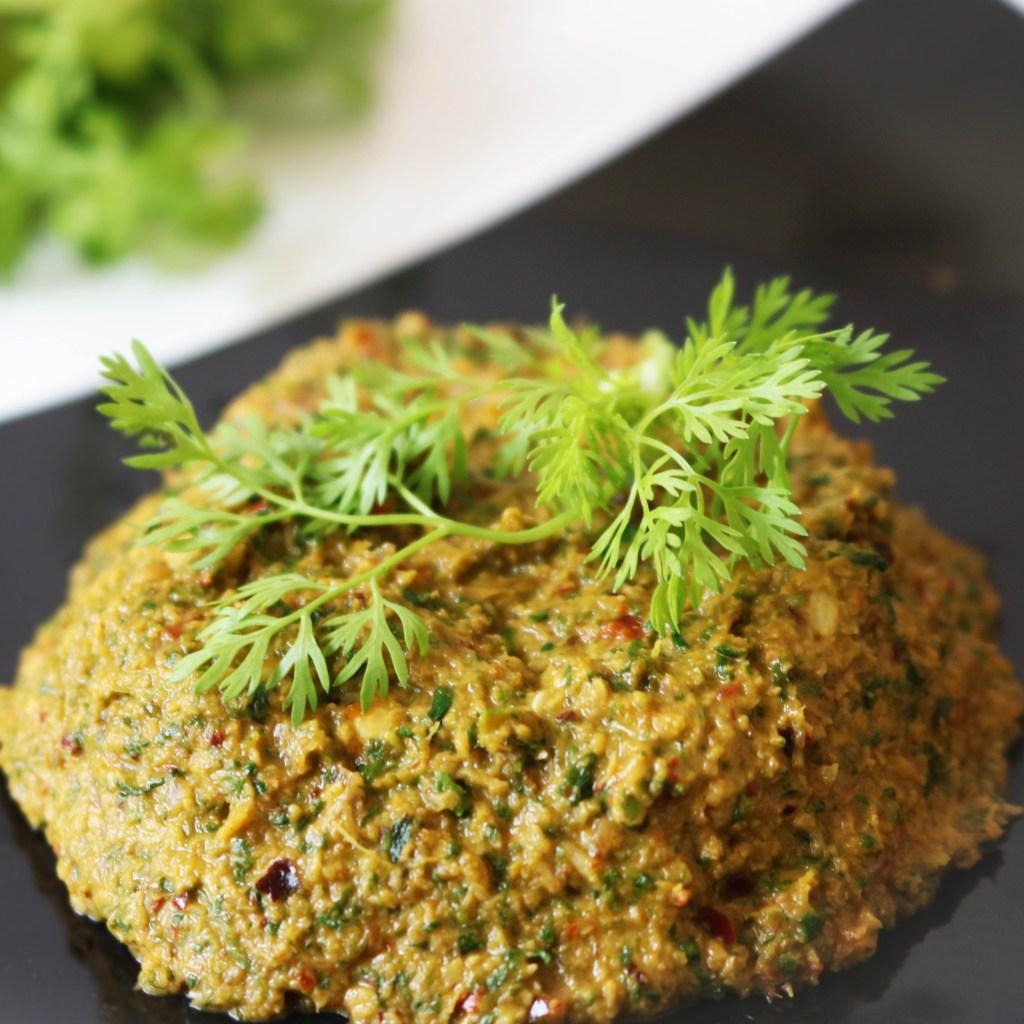 Kothamalli Thogayal ~ Coriander Chutney for rice