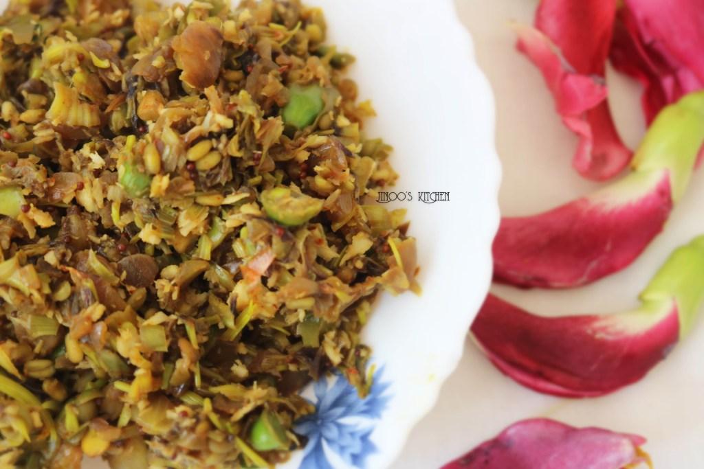 Agathi Poo Poriyal / Hummingbird Flower Stir Fry