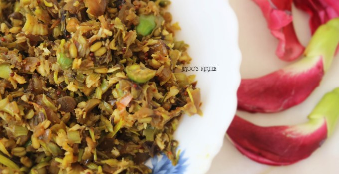 Agathi Poo Poriyal / Hummingbird Flower Stir Fry