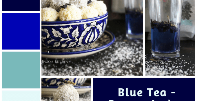 Blue Tea Ladoo -Paneer ladoo recipe