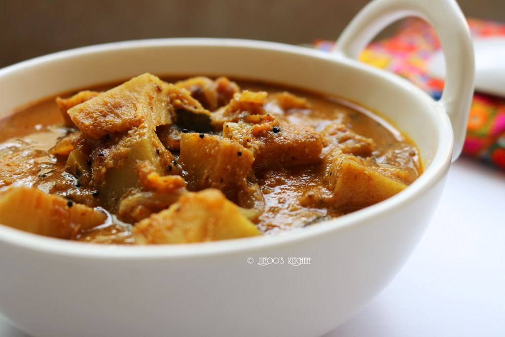 kadachakka curry   Breadfruit curry   kada chakka masala curry