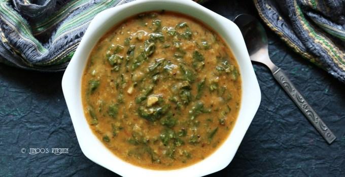 Dal palak for rice | palakura pappu recipe | Keerai kootu recipe