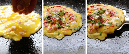 egg recipes south indian - one side omelette