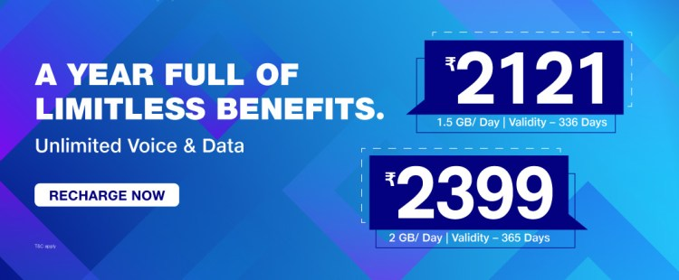 JIO 4G Prepaid Plans with 1 month, 2 month, 3 month yearly unlimited