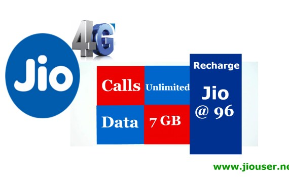 Jio 96 recharge online plan details