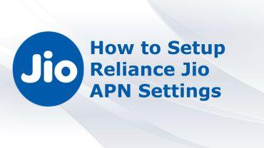 Reliance Jio APN Settings