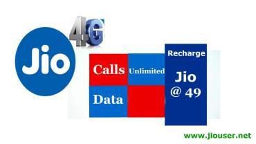 Jio 49 recharge online plan details