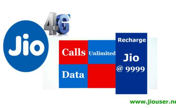 Jio 9999 recharge online plan details