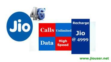 jio 4999 recharge online plan details