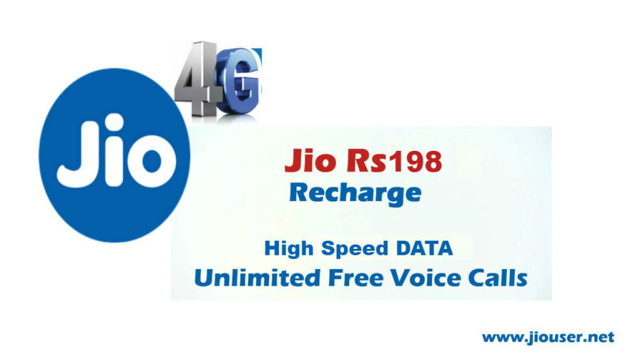 Jio Prepaid Recharge Plan Rs 198 | Offers 56GB 4G Data