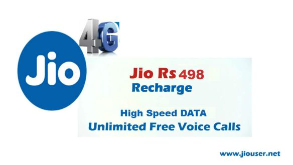 Jio 498 Recharge Plan Deatails