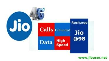 Jio 98 Recharge Plan Online