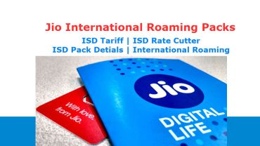 Jio International Roaming Packs
