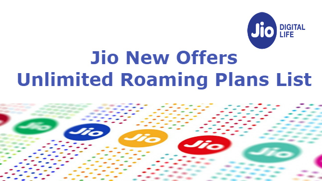 Unlimited Jio Roaming Plans