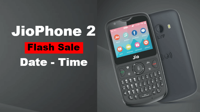 How to book JioPhone 2 Flash Sale