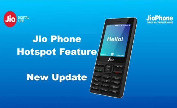 Jio Phone Hotspot Settings