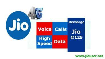 Jio 125 Recharge