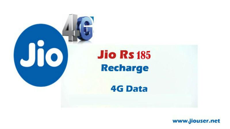 Jio 185 Recharge