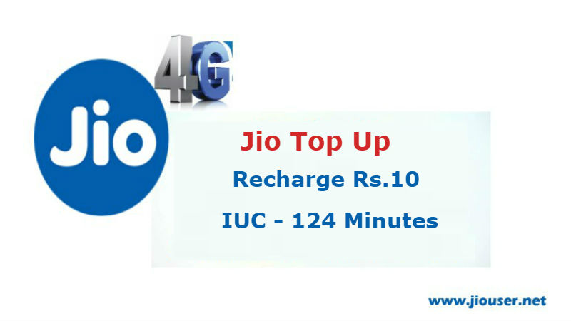 Jio Rs.10 Recharge