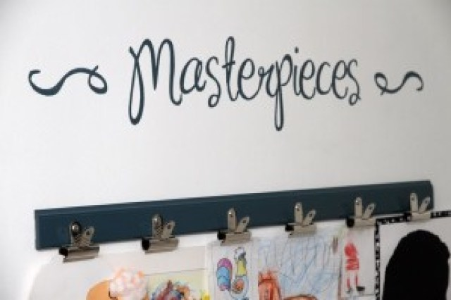 Masterpieces children's art on the wall
